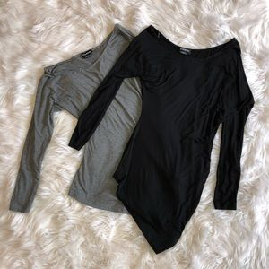 Lot of 2 Long Sleeve Bebe Tees